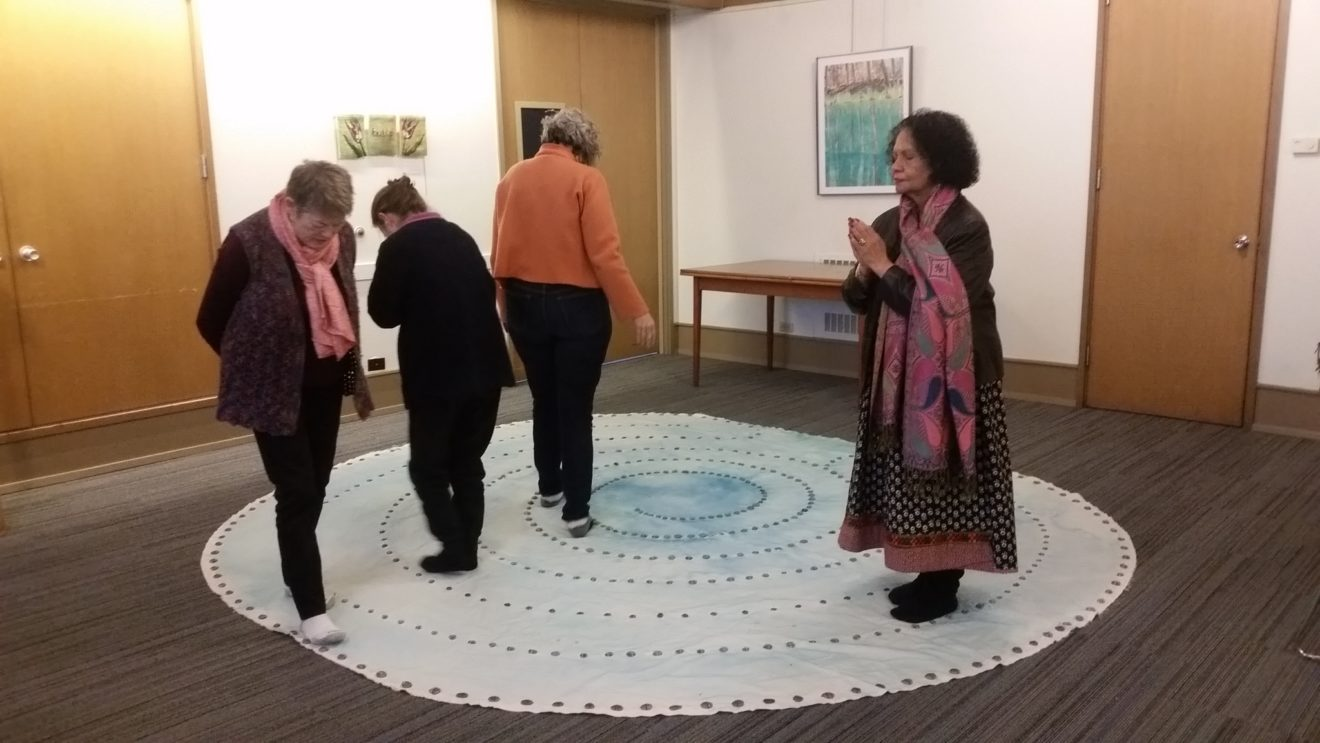 Indoor Labyrinth Walking in Meditation Room