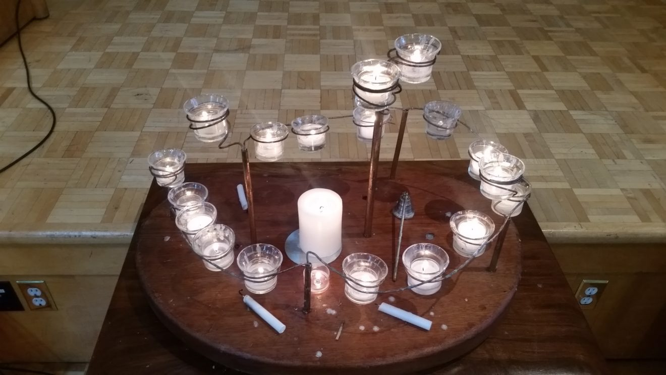 Messy Church Potluck Dinner with Candles for Imbolc